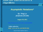 Lecture topic-AsymptoticNotations