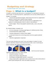 Budgeting and strategy kraft foods.docx