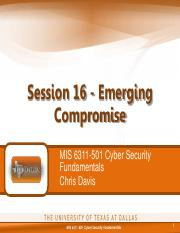MIS 6311-501 Session 16 - Emerging Compromise.pdf