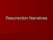 25_Resurrection Narratives