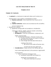 Law 322 Test 3 Study Guide