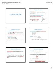 9.1 Vector Valued Functions