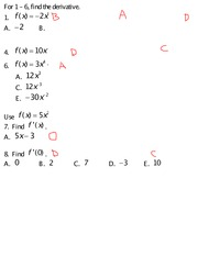 Quiz 4 Solution on Business Calculus Spring 2015