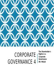 CORPORATE GOVERNANCE-  4 BARU ROLES OF SHARE HOLDERS