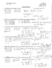 SI #23 - Chapter 18 Review & Final Practice Problems Answer Key