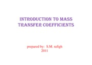 Microsoft PowerPoint - Intoduction to MASS TRANSFER COEFFICIENTS