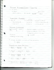 Solving Linear Systems Notes