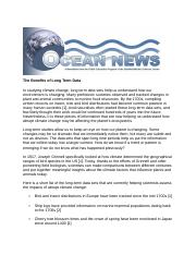 Ocean NewsThe Benefits of Long Term Data(1)