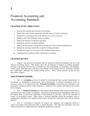 CHAPTER 1 Financial accouting