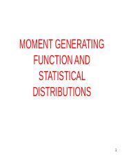 4. MGF, STATISTICAL DISTRIBUTIONS -530