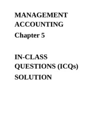 ICQ - Solution Chapter 5