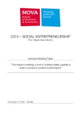 SE - Di Fede P. Individual Assignment - Impact investing