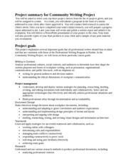 Project Summary for Community Writing Project