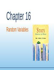 Chapter16 - Random Variables.ppt