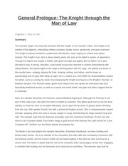 General Prologue The Knight through the man of Law