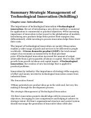Summary Strategic Management Of Technological Innovation Dragged 4