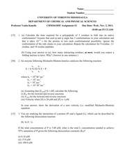 Assignment 2 Questions (2011)