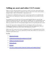 Selling an asset and other CGT events.docx