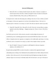 Annotated Bibliography E - Cigarettes(2).docx