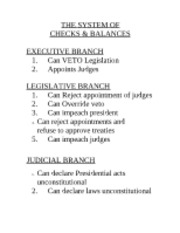 us history checks and balances essay United states history & government table of contents dbq essay packets system of checks and balances packet 386 3 1985 the clear and present danger ruling of the united states supreme court in schenck v.