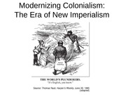 Lecture Slides on Modernizing Colonialism