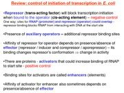 21 - Transcription (Eukaryotes); Overview of RNAPs