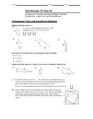 PAP Geometry Review T3 Test2_Special Right Triangles