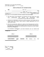 Affidavit of Cohabitation blank form.doc