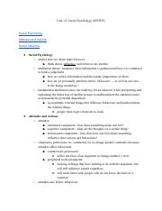 APPsychology-Unit14NOTES