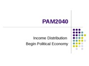 Income Transfers and Political Economy