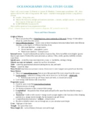 Oceanography Final Exam Guide