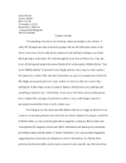 Essay Three draft Two