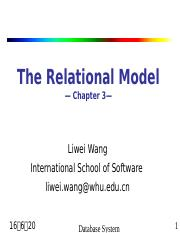 3 The Relational Model.ppt