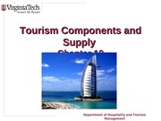 Chapter 12 Tourism Components and Supply