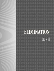 Elminiation - Bowel 2014
