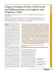 13. Origin of Enhanced Stem Cell Growth and Differentiation on Graphene and Graphene Oxide.pdf
