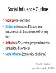 Prot Lecture 6 - Social Influence - Complete notes.pptx