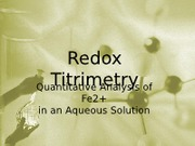 Reduction Oxidation Titrimetry