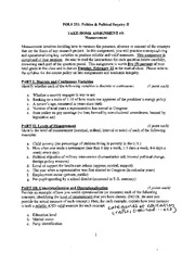 Take Home Assignment Essay #3 Measurement