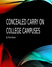 Concealed Carry on College Campuses.pptx