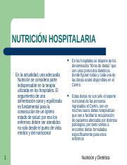 dieta hipocalorica e hiperproteica hospitalarias