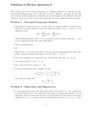 Final Exam Review 1 Solution on Numerical Analysis