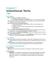 Chapter 7- Intentional Torts.docx