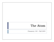Unit 4  - the atom part 1