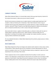 SABRE RADIO NETWORKS Company overview 2015.pdf