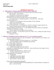 Exam II Study Guide