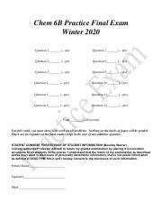 Chem 6B Practice Final Exam  Winter 2020.pdf