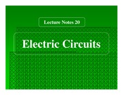 Ch 20 Electric Circuits