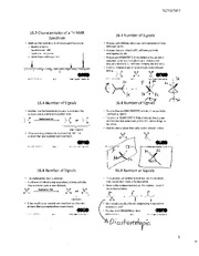 Chemistry 2OA3 Chapter 16 Characteristics of a H NMR Spectrum with Notes