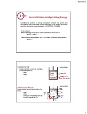 Chapter 5a. Control Volume Analysis Using Energy
